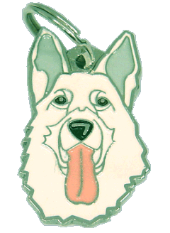 WHITE SHEPHERD - pet ID tag, dog ID tags, pet tags, personalized pet tags MjavHov - engraved pet tags online